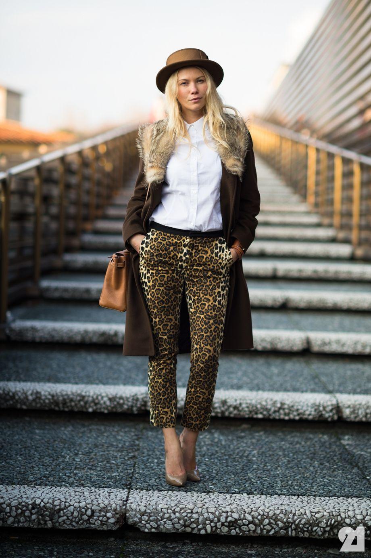 Women Animal Print Pants