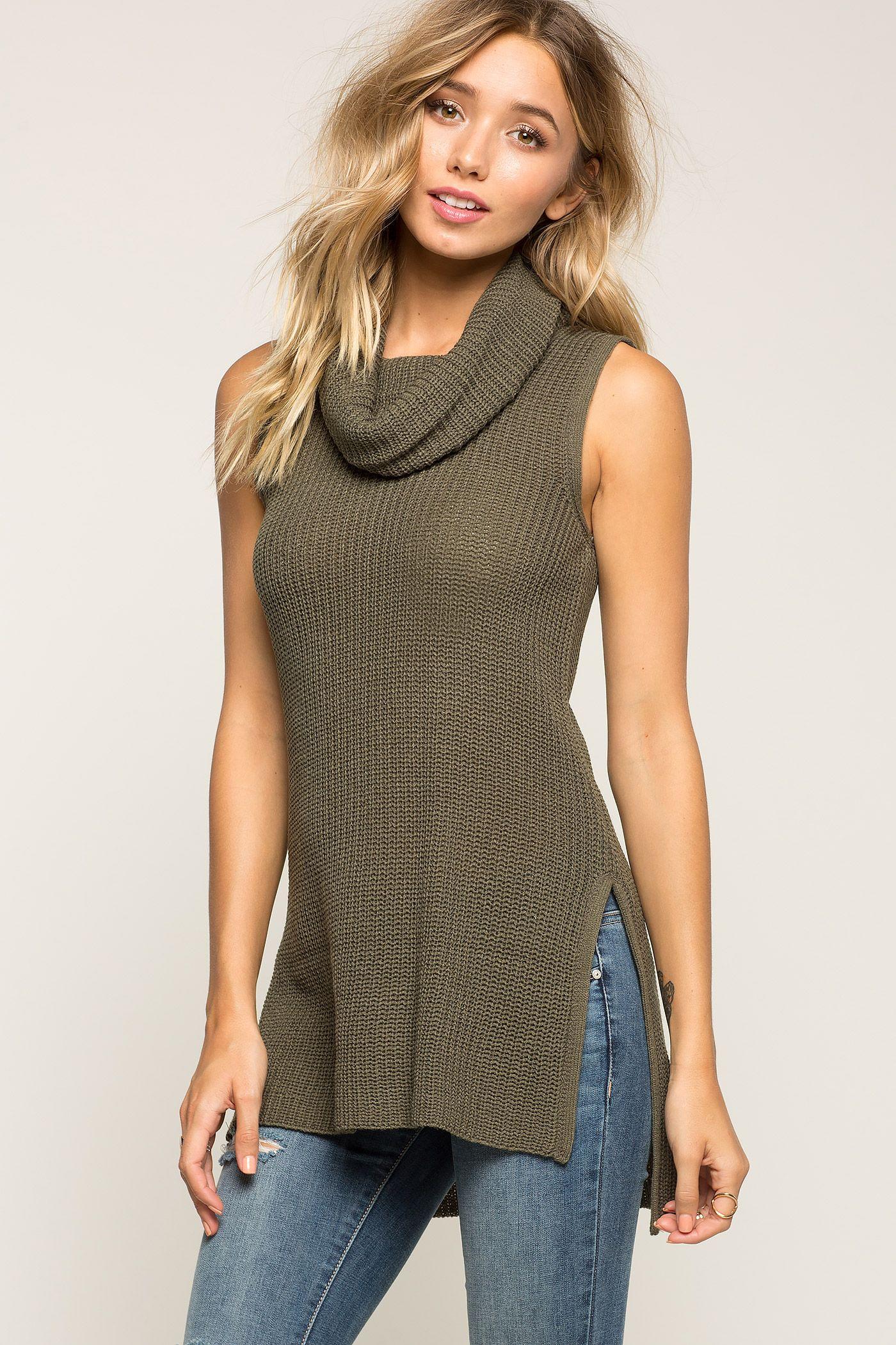 cowl neck sweater sleeveless