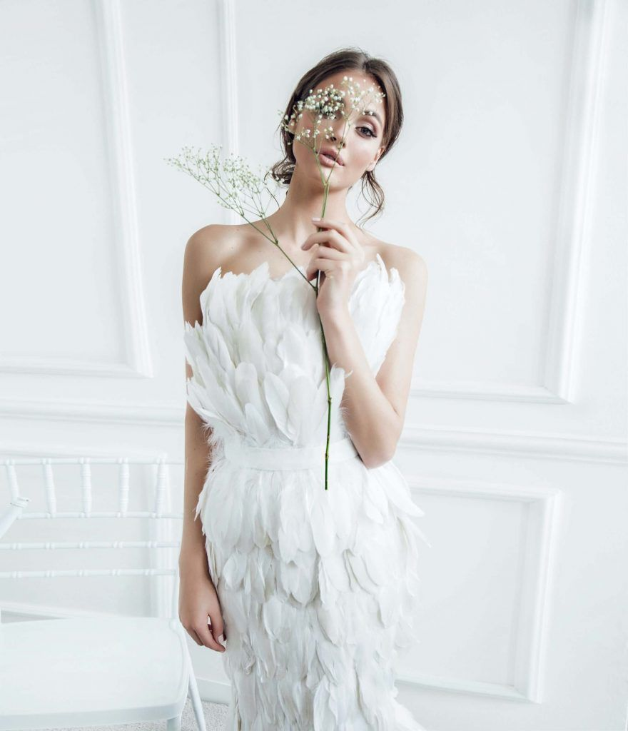 Feather Dress Contemporary Look
