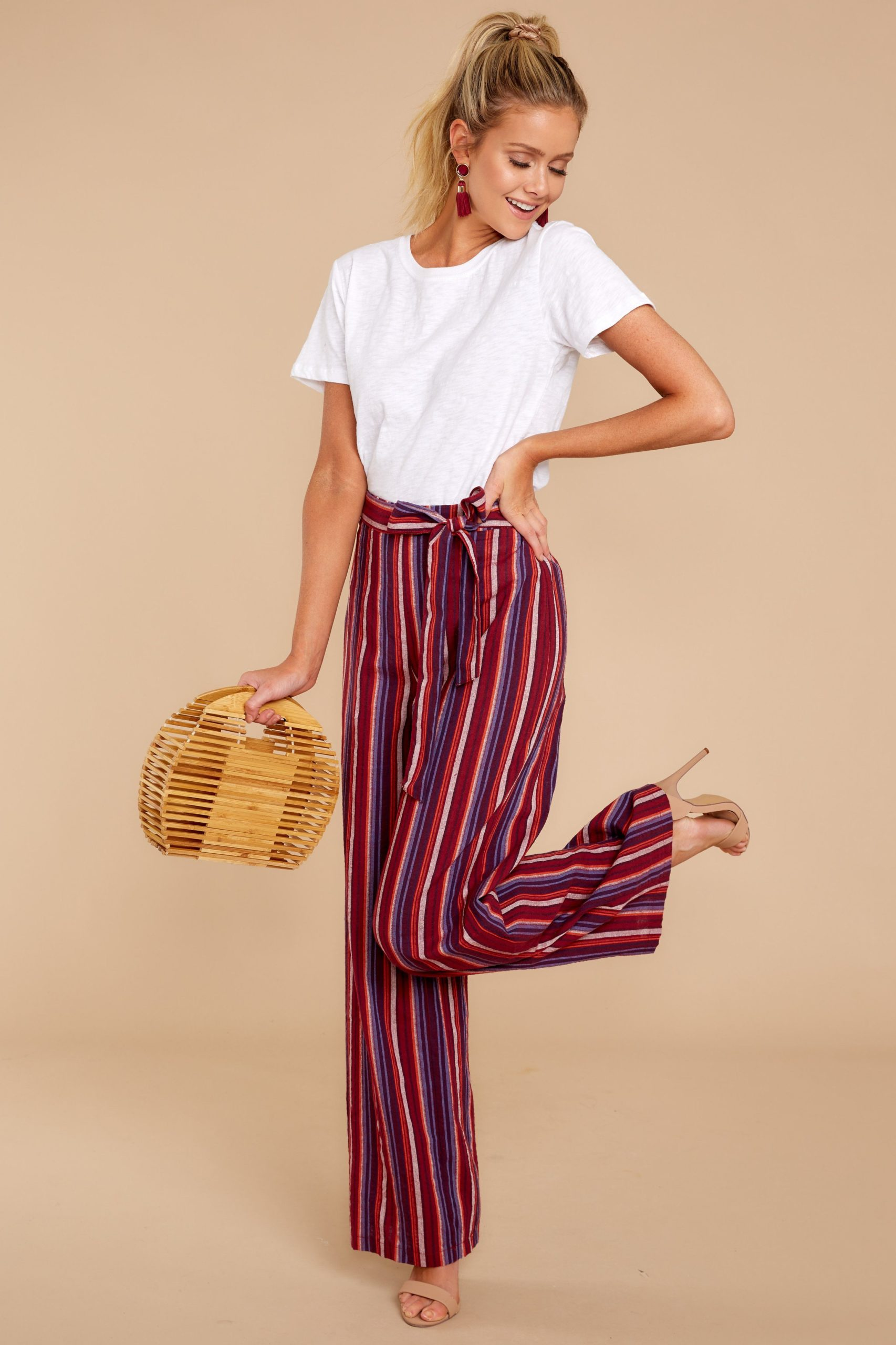 striped patterned pants