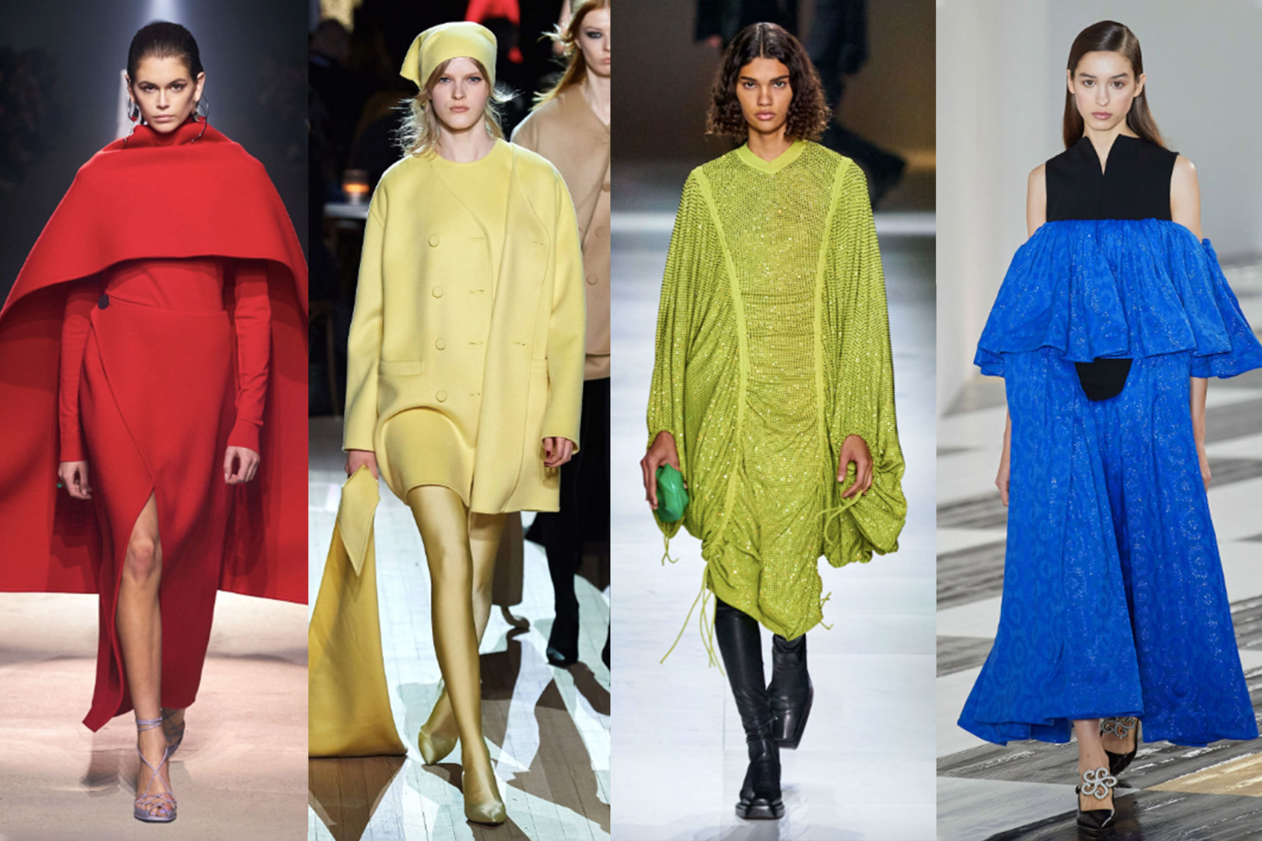 Seasonal colours in fashion trend