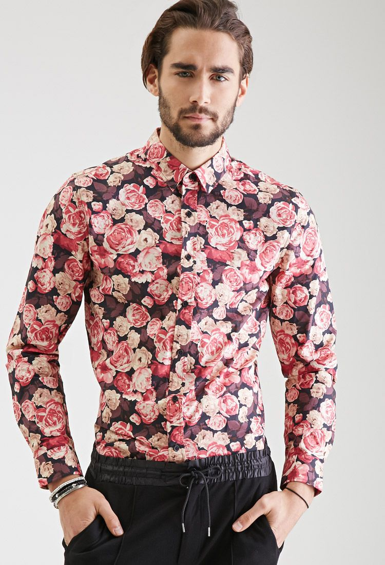 Men's Floral Printed Shirts