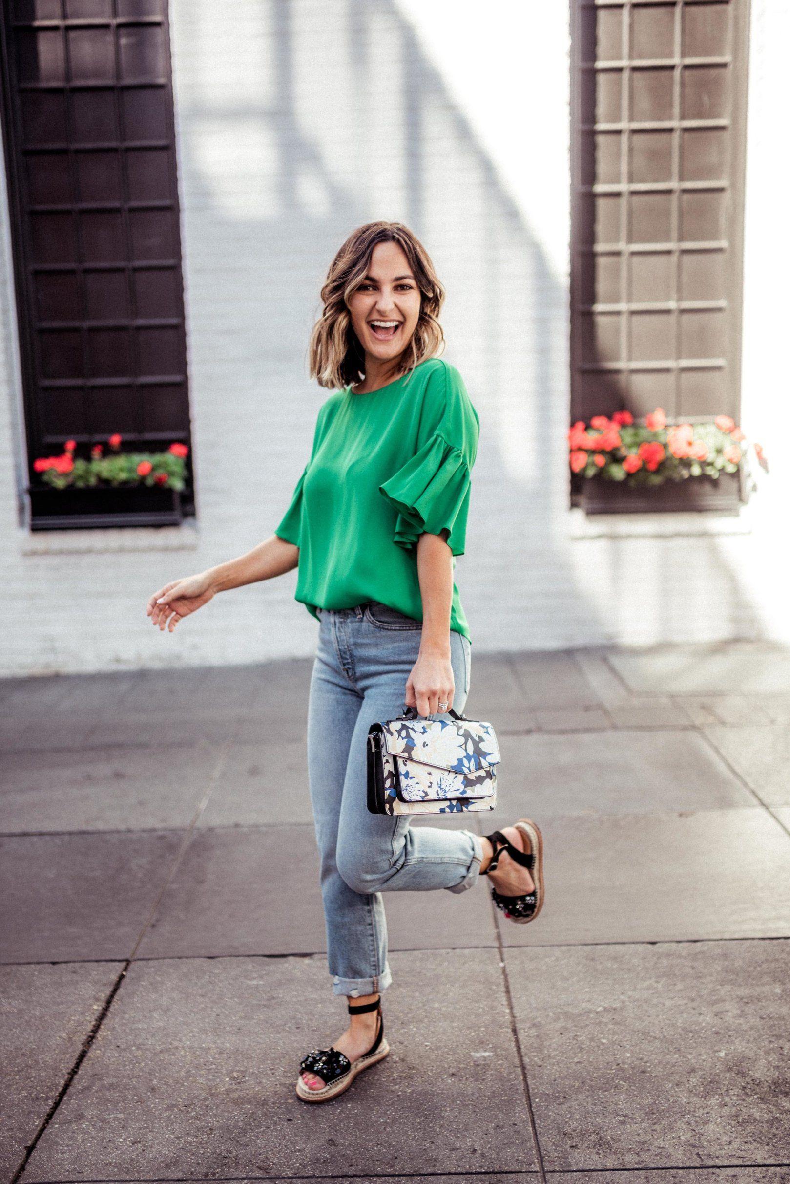 Spring green fashion