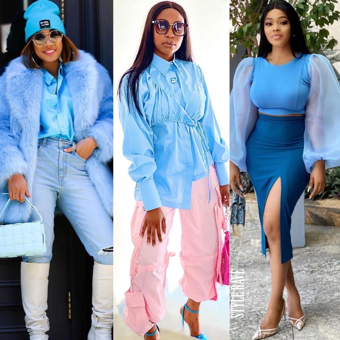 Blue colour clothing