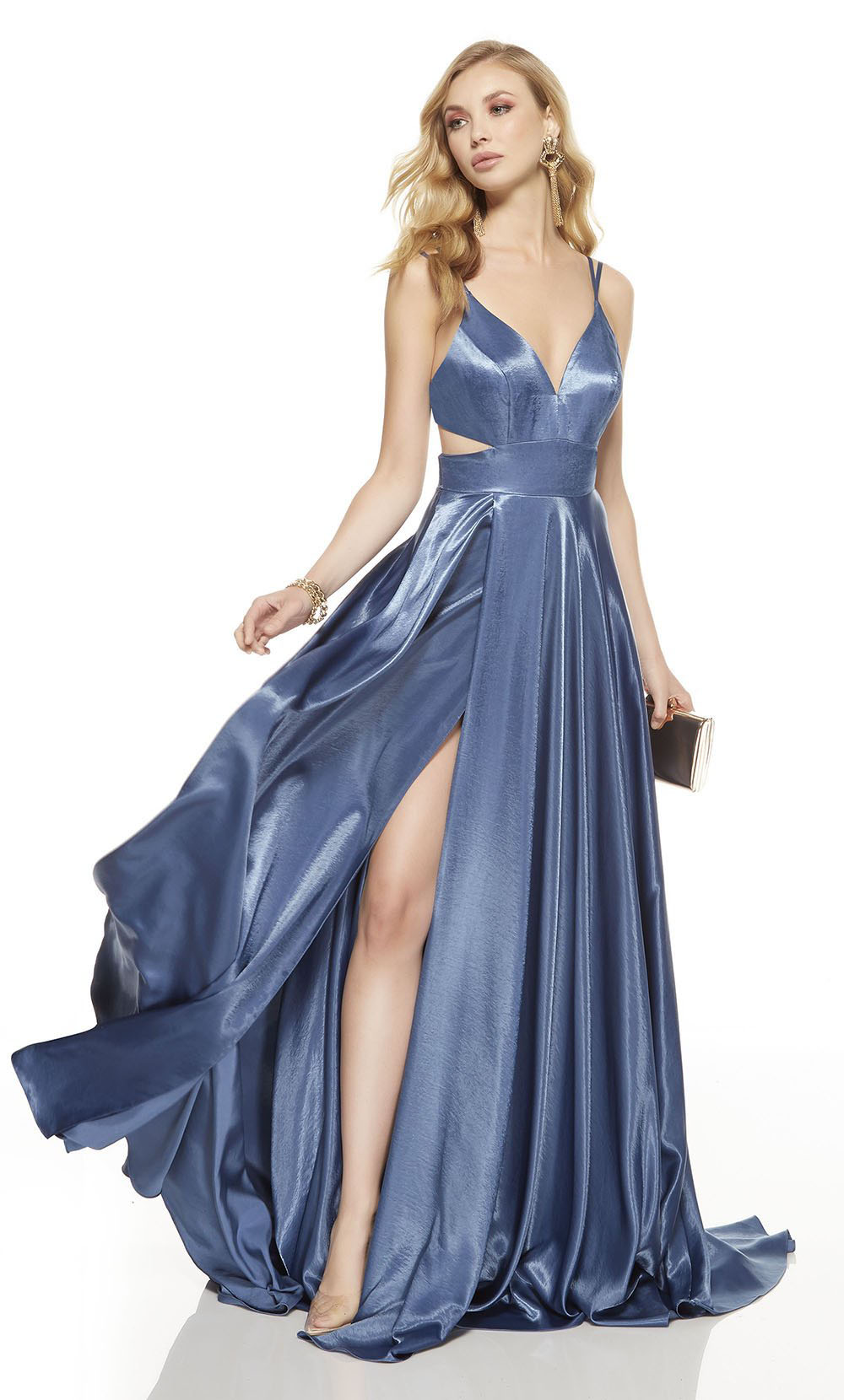 Side Cut Out Maxi Dress plunging necklines