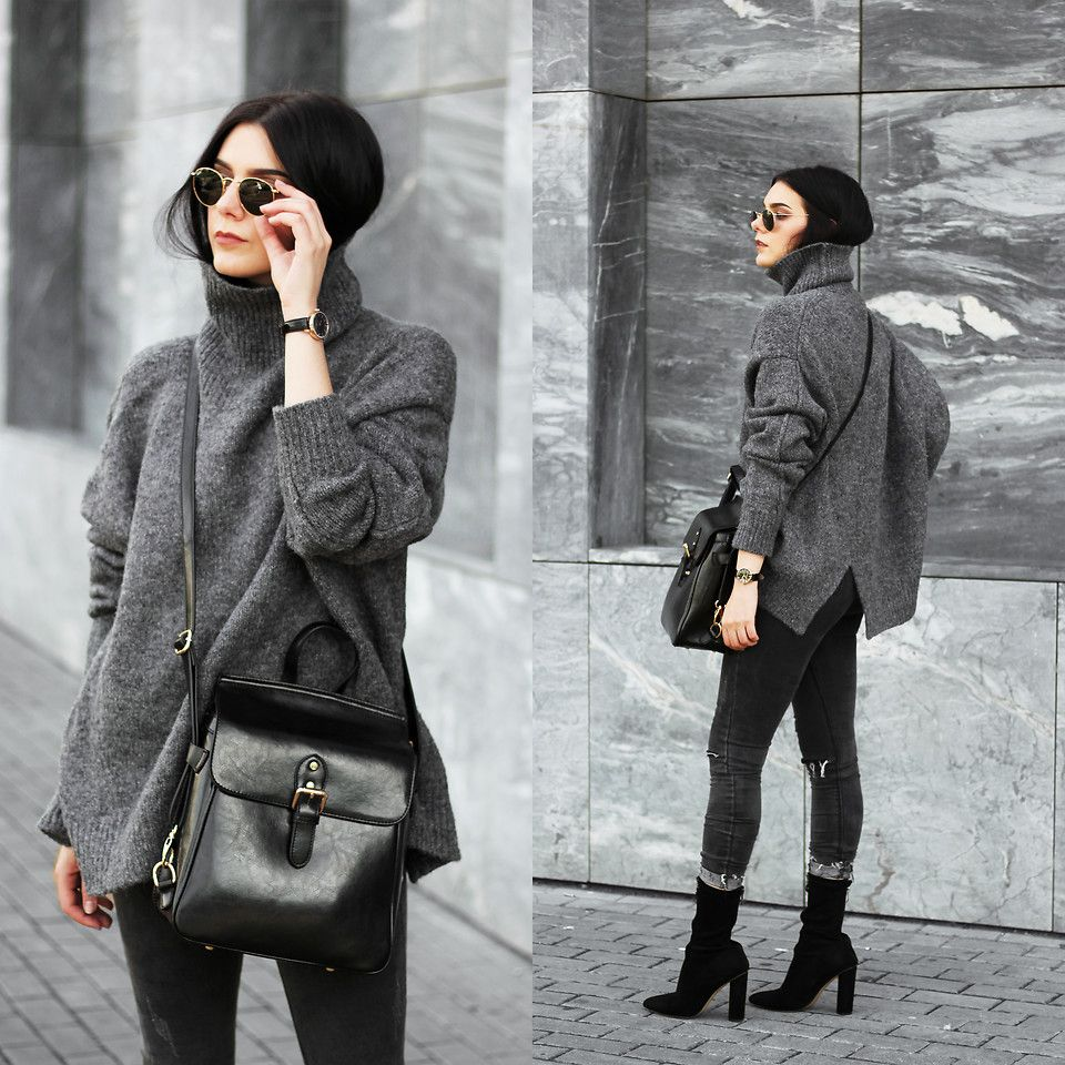 Winter Dark Gray fashion