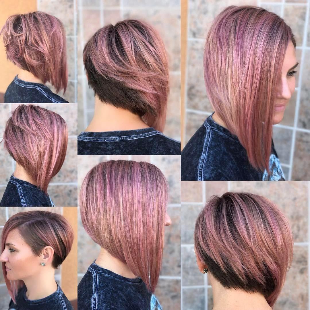 Women's Asymmetrical Bob Hairstyle