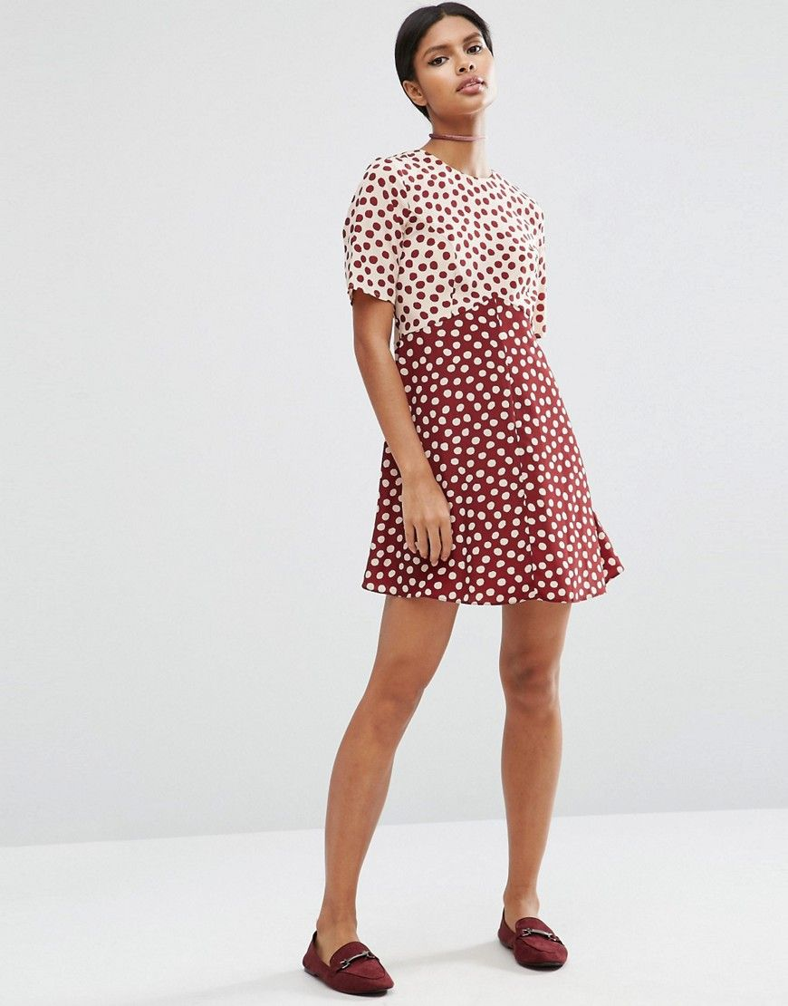 ASOS Spot Mix & Match Dress