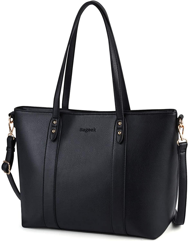Bageek Large Black Handbag,Bags for Women Tote Bags for Women Black Leather Handbag Large Ladies Bag Women Handbags Designer Fashion Shoulder Bag Ladies Synthetic Tote Bag Crossbody Bags