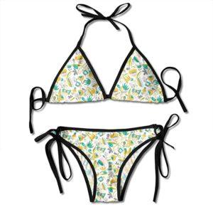 Bikini Adjustable Olivia Butterfly Floral White Sexy Bikini Set 2 Piece
