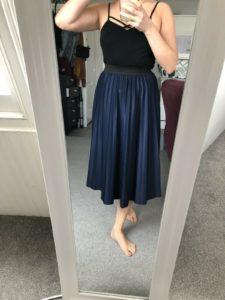 Blue Plated Skirt