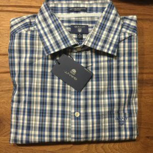 Broadcloth Plaid Casual Check Shirt in White