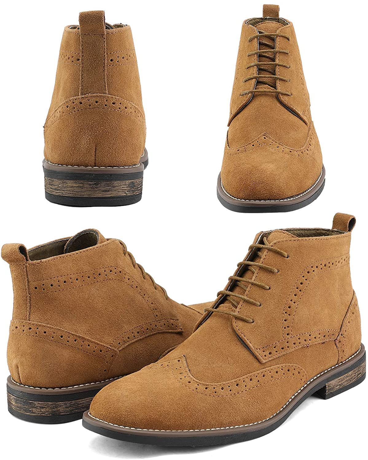 Bruno Marc Men's Urban-01 Suede Leather Lace Up Chukka Desert Boots
