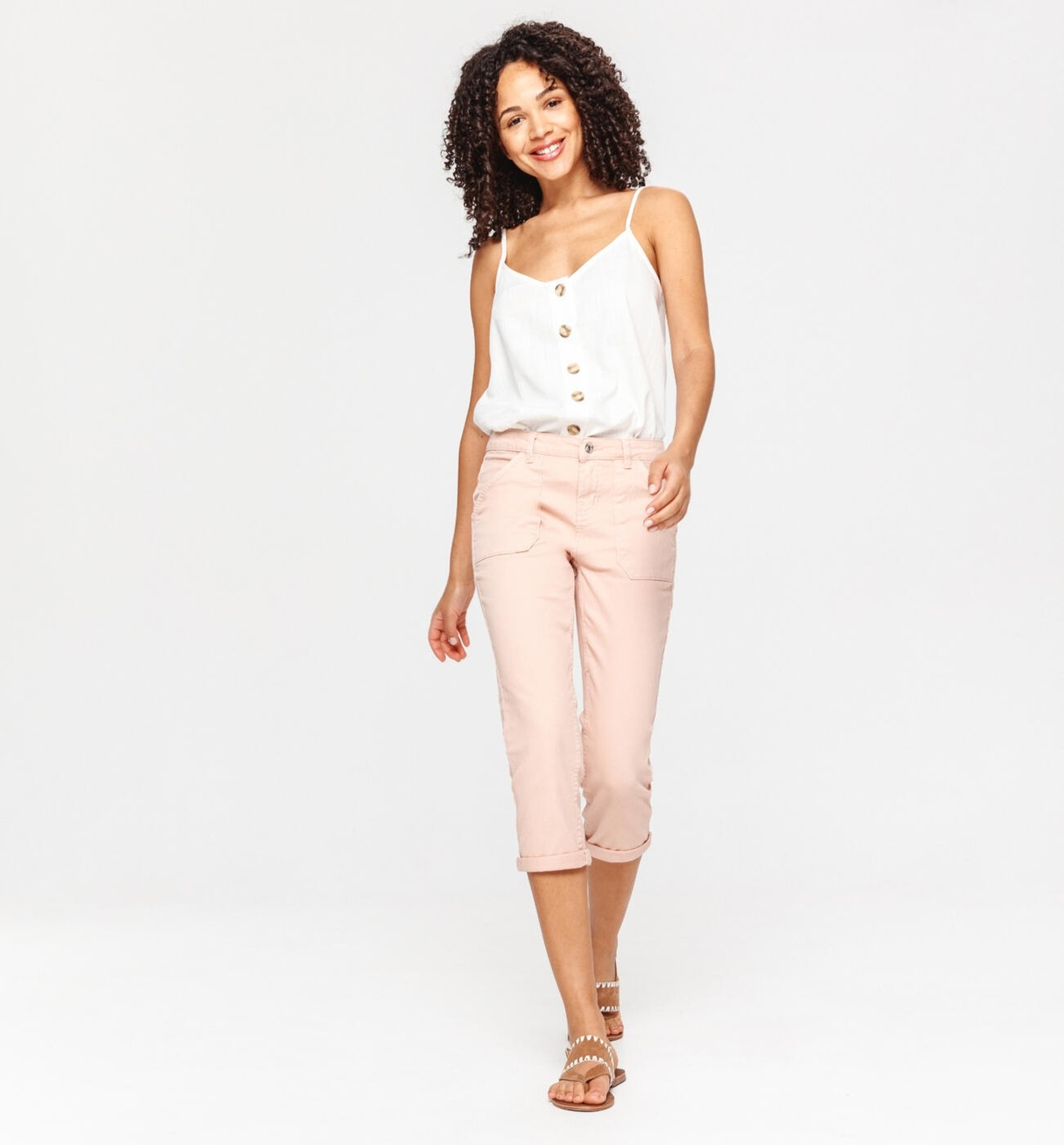CANVAS CROPPED TROUSERS