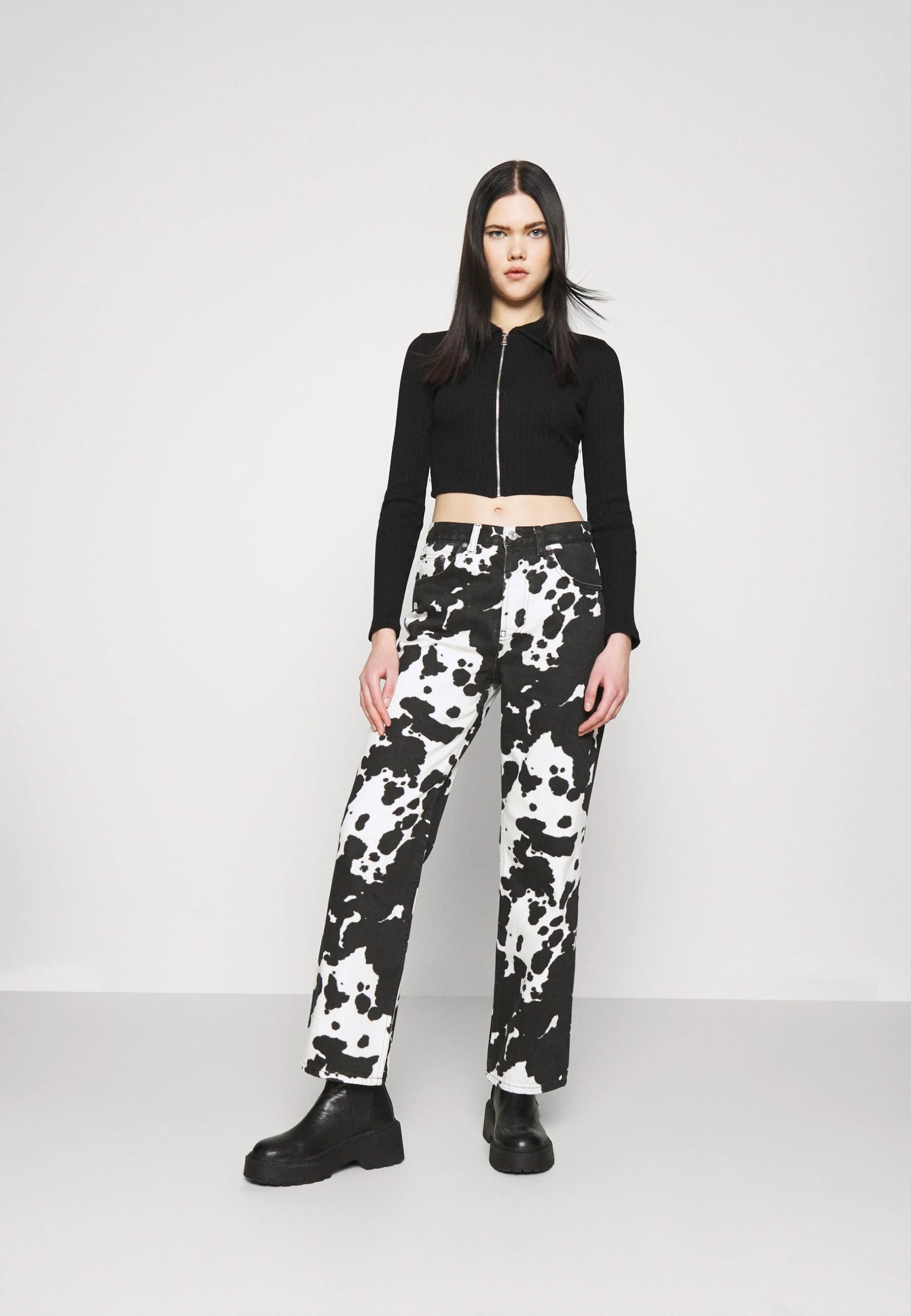 COW PRINT RUNWAY - Relaxed fit jeans