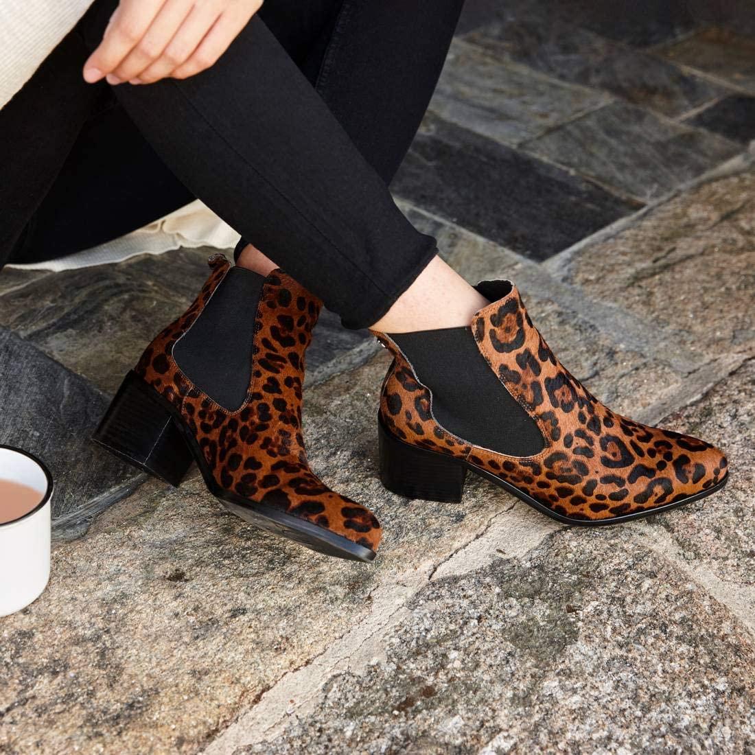 Carmela - 67382 - Leopard Print Leather Ankle Boots