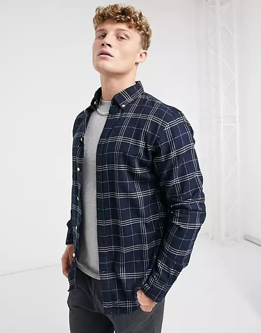 shirt in grey check