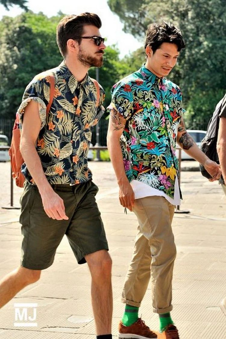 Men's Floral Printed Shirts Match your bottom