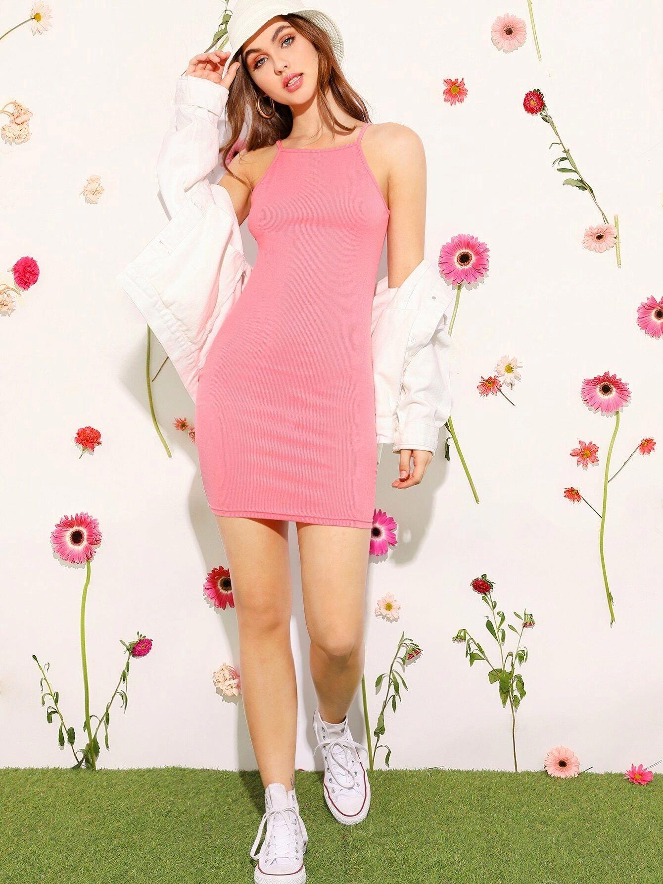Pink Pencil Dress