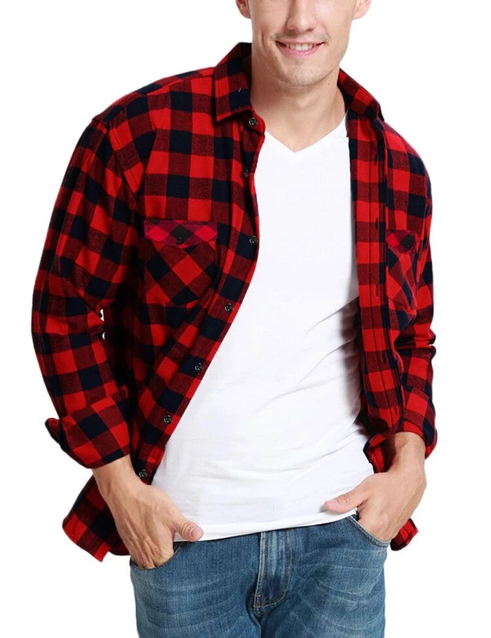 Check Shirts Red and Black