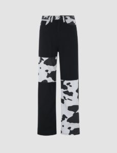 Cow Print skinny jeans