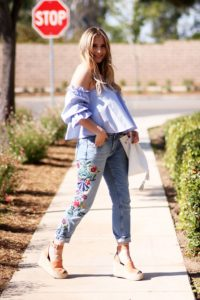 Embroidered Jeans Image