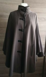 FLARE Cape Poncho COAT Wool And Cashmere