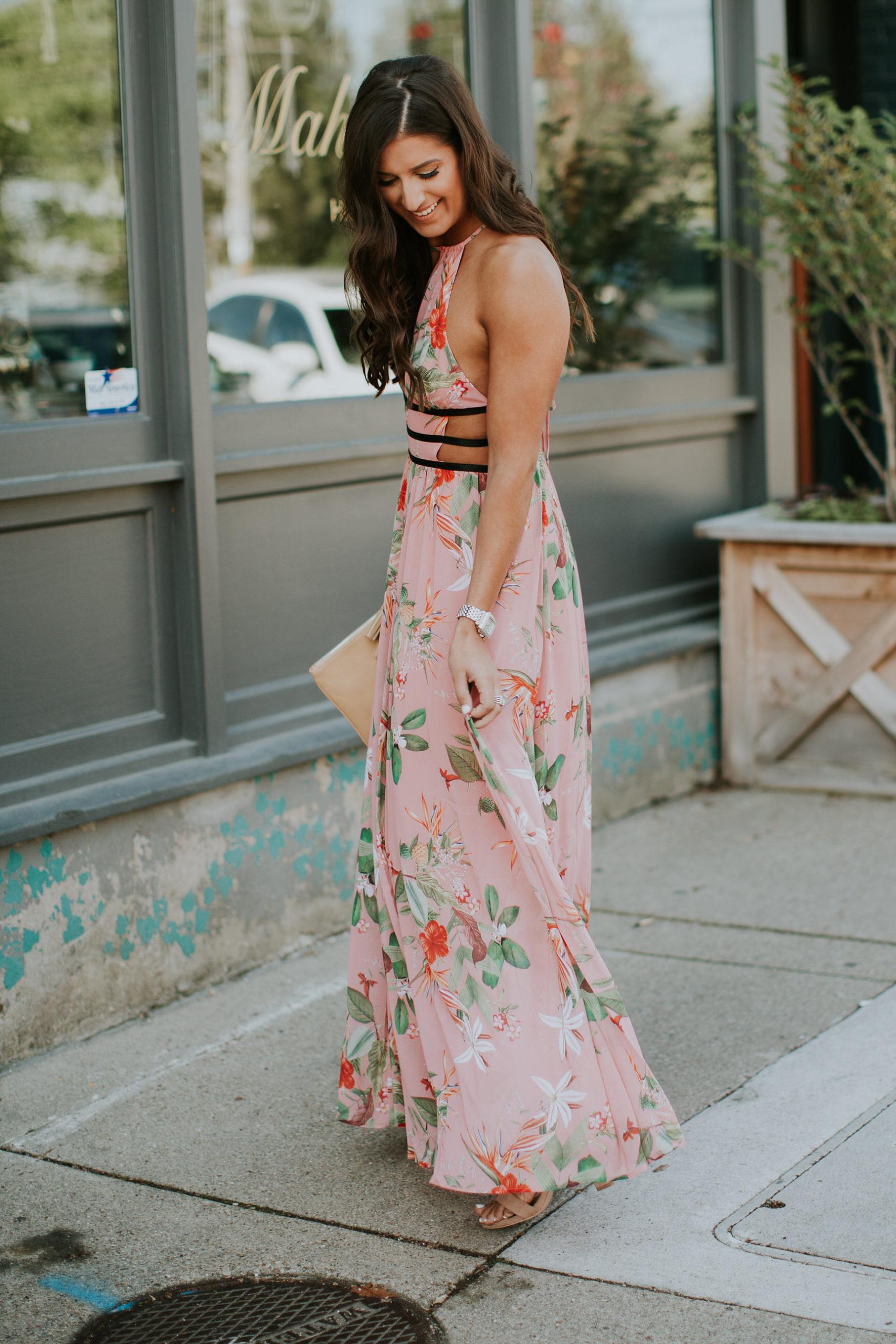 Side Cut Out Maxi Dress