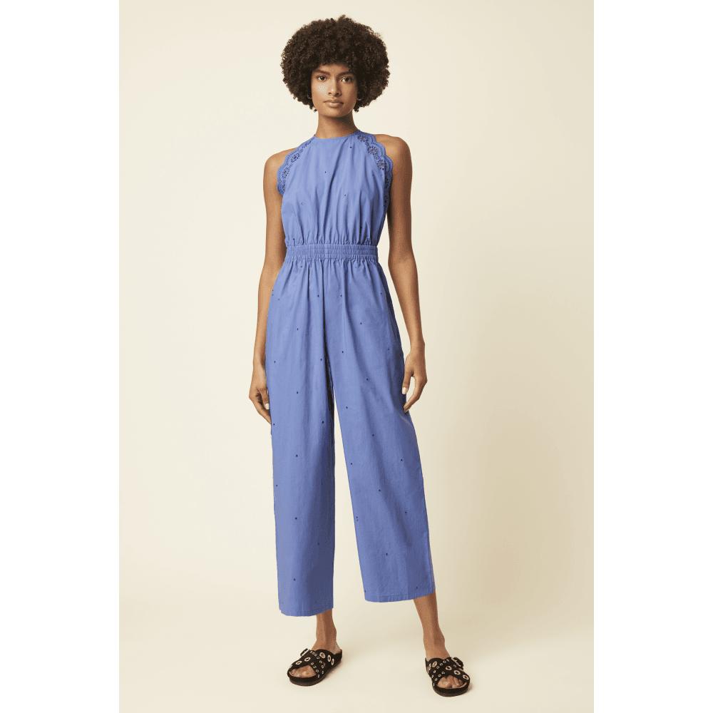 JGNAD Aurora Cotton Sleeveless Jumpsuit in Cornflower Blue