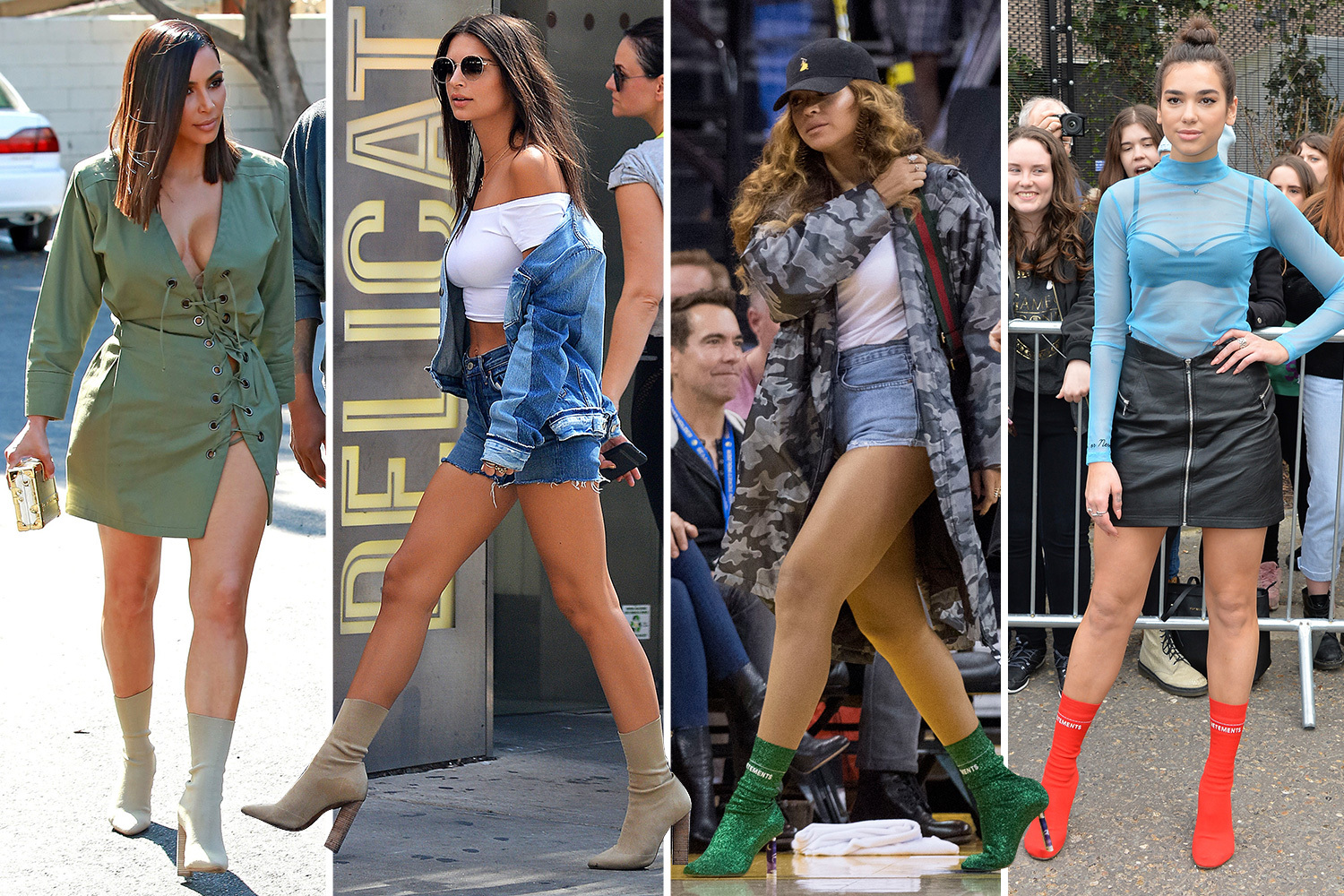 sock boots fashion trend
