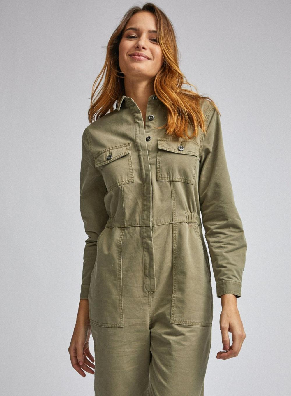 Khaki Utility Boilersuit Khaki | Womens Dorothy Perkins Playsuits & Jumpsuits