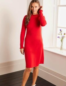Knitted Midi Dresses red image