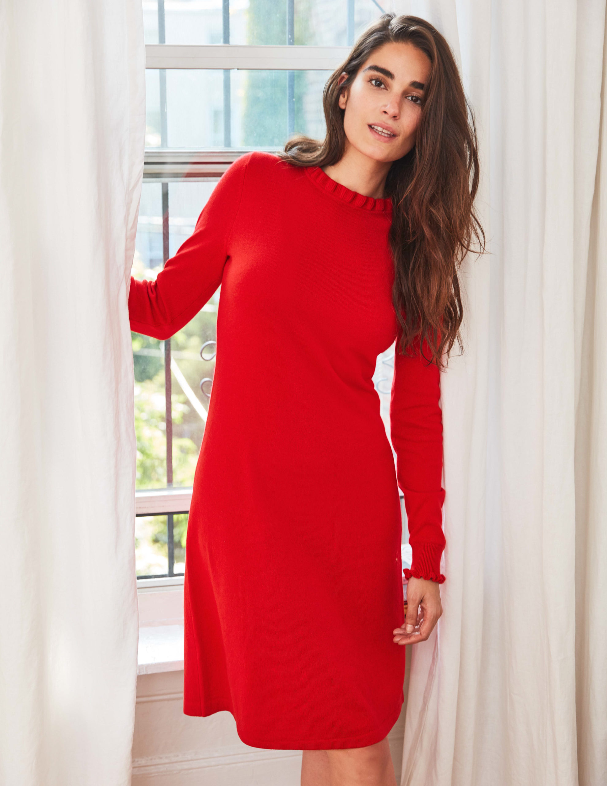 Lara Knitted Dress - Red