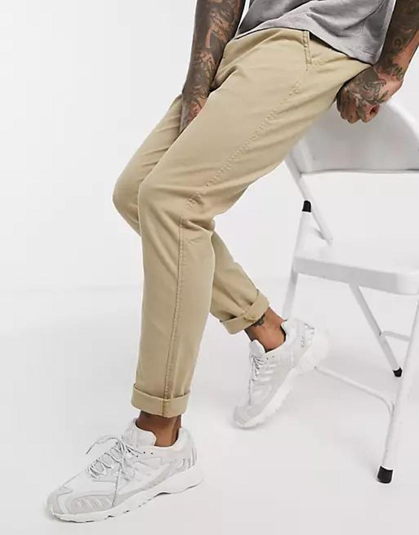 Levi's slim tapered fit chinos in true chino beige shady wash