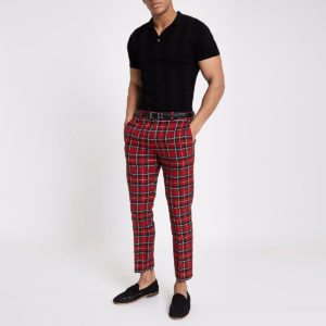 Mens Skinny Cropped Pants For Fashionable