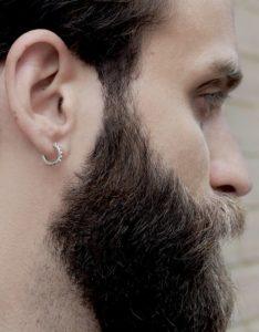 Men's hoop spike earrings