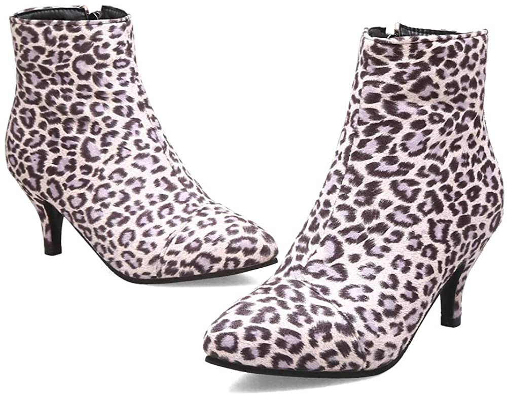 NIGHT CHERRY Women Fashion Kitten Heel Autumn Dress Boots Zip