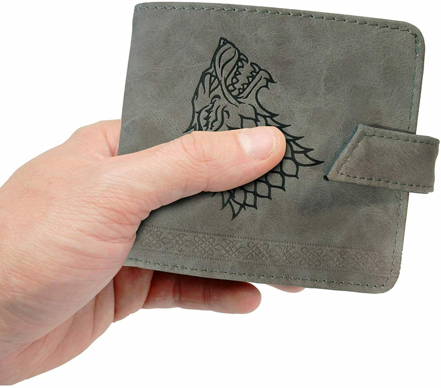 OFFICIAL GAME OF THRONES GOT HOUSE STARK WINTER IS COMING SUEDE MENS WALLET BNWT