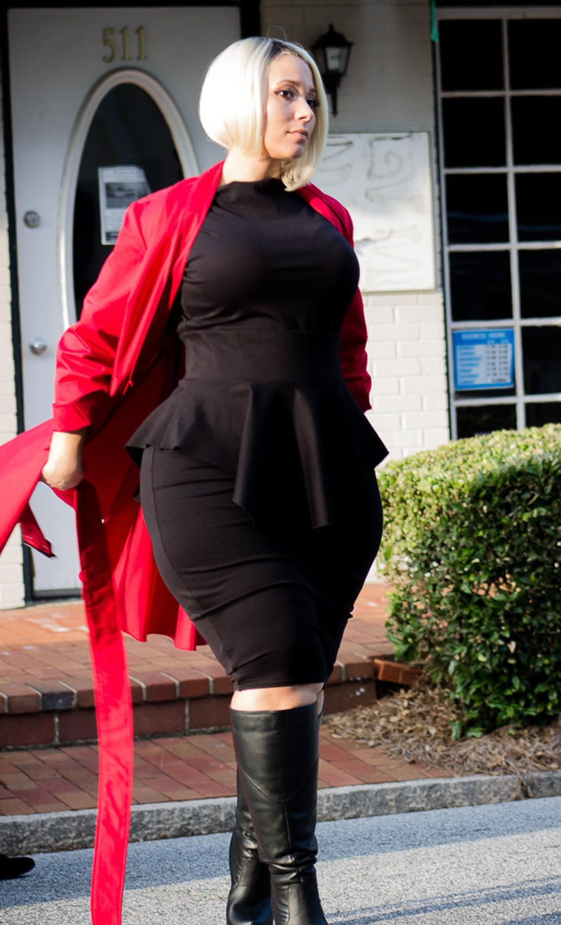 Plus Size Custom Peplum Dress