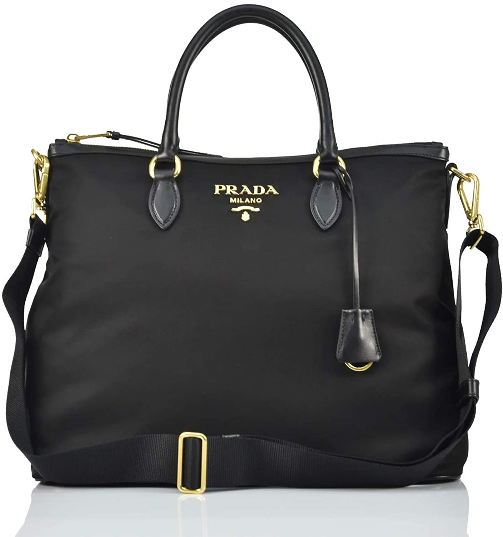 Prada Women's Fabric Hand Bag - Black - Mod.1BC060 QXO F0002 00