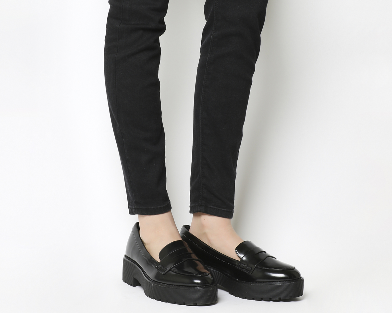 Reaction Chunky Loafers Black Box