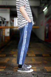 Remade Denim Stripe Jeans