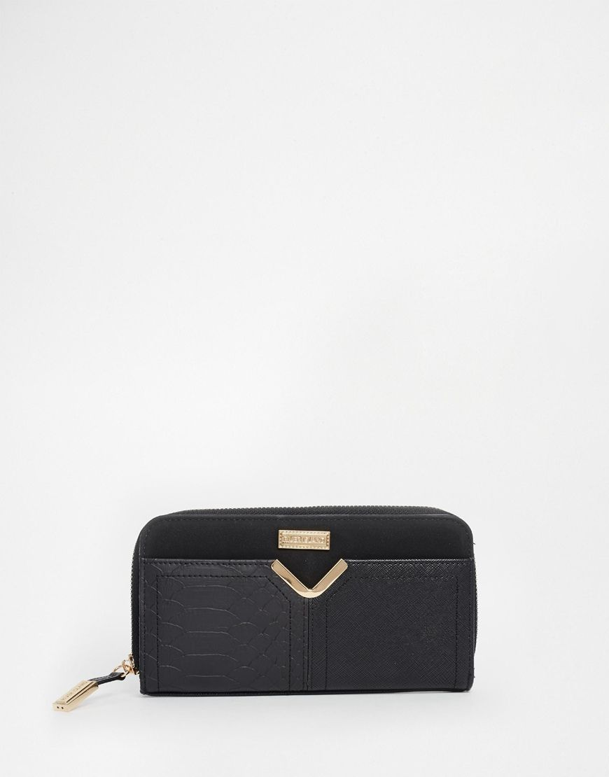 River Island Bar Detail Zip Purse