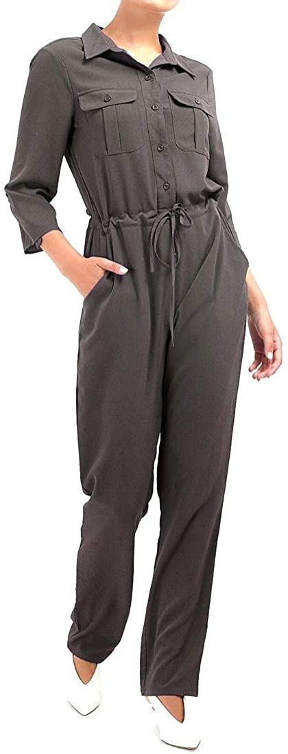 SS7 Womens Jumpsuit Elasticated Waist Boiler Suit