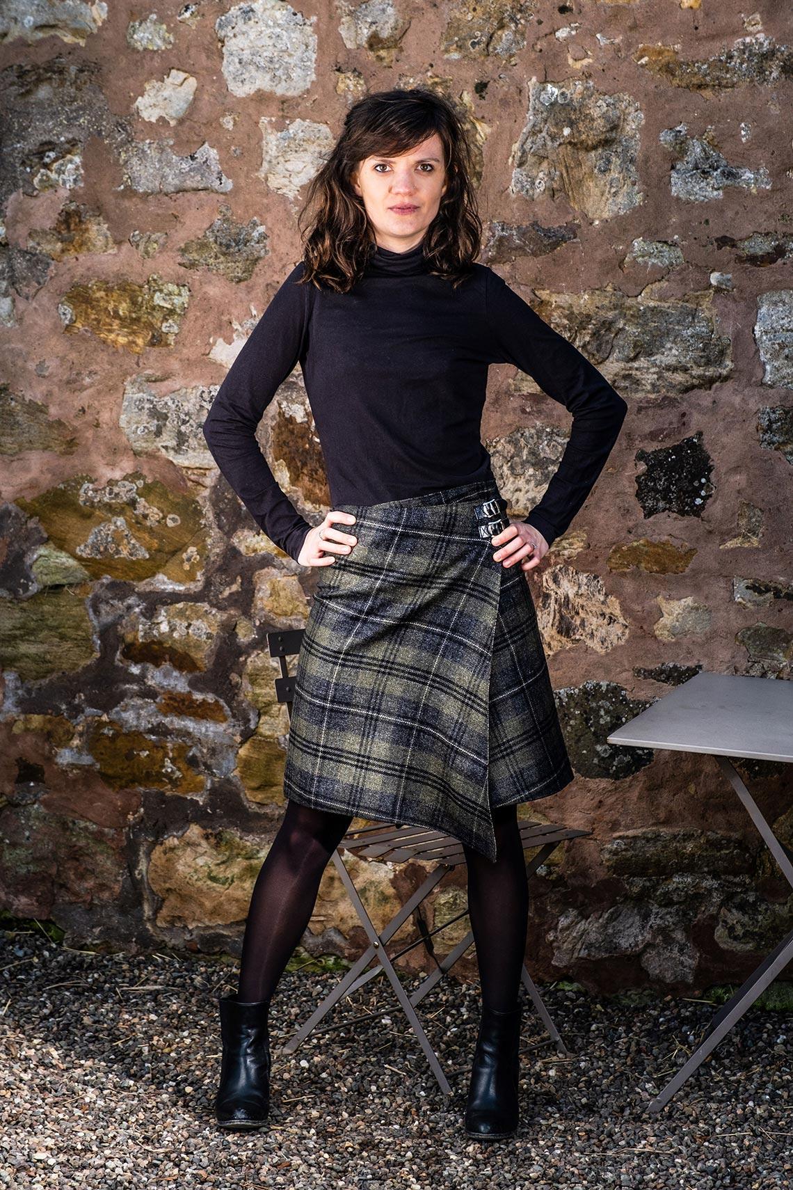pointy wrap skirts