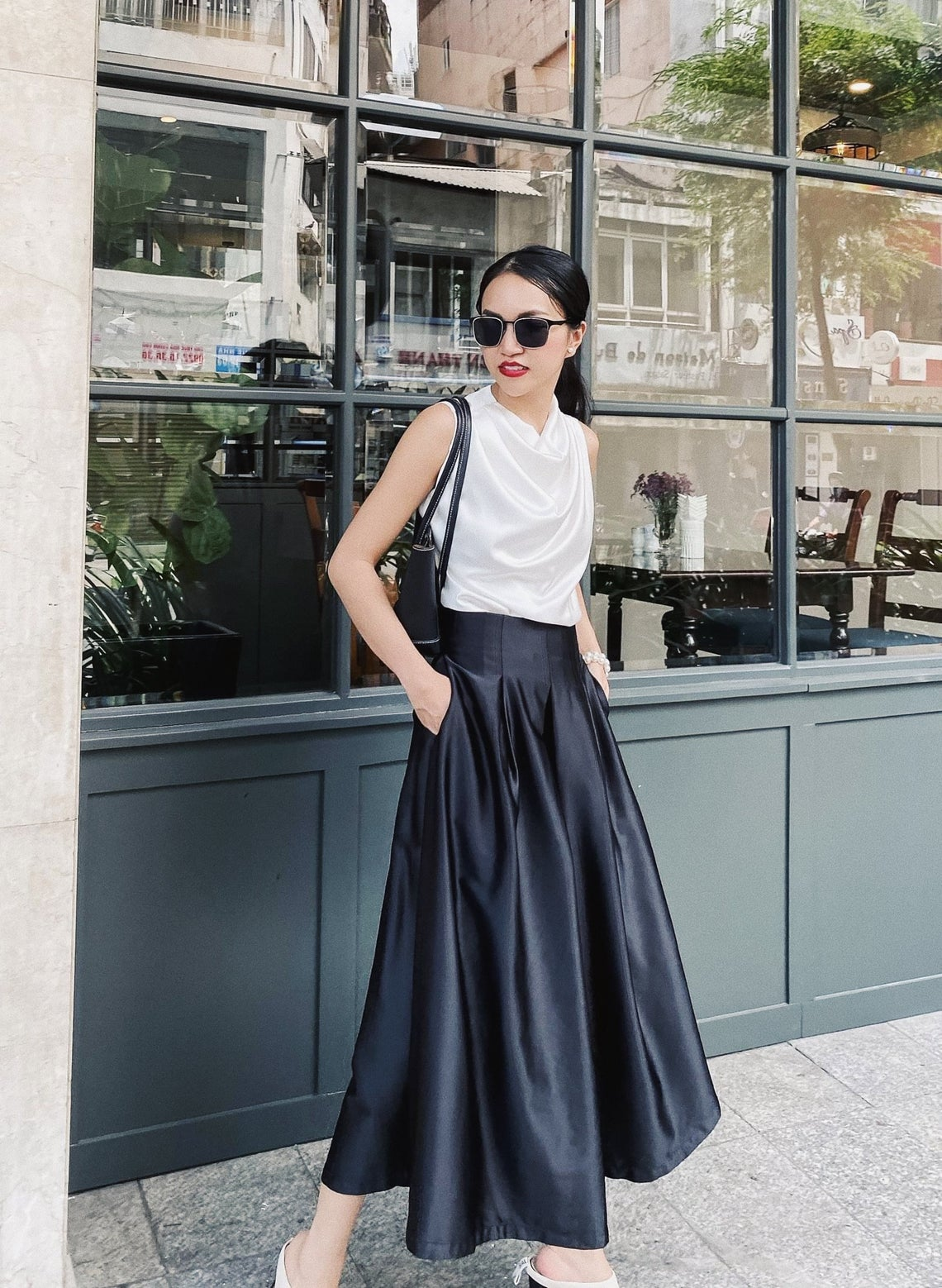 Silk maxi skirt midi - High waisted skirt - Silk clothing - Long Skirt - Mini satin skirt - Silk slip skirt - Silk skirt -Mother Day Gift