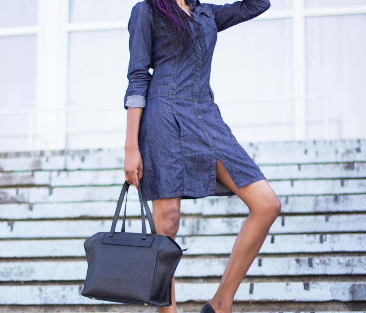 Blue Denim Shirt Dresses – Perfect for Cold Winter Days – The ...