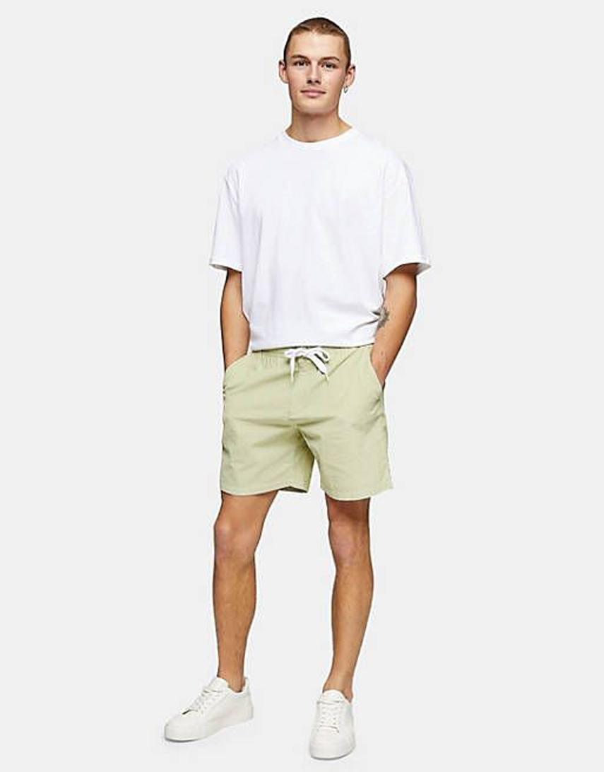 Topman co-ord cord shorts in green