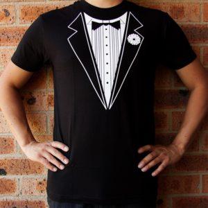 Tuxedo Fancy Dress Funny Mens T-Shirt Size