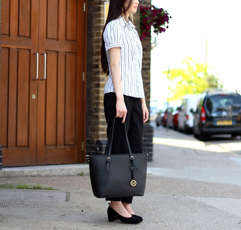 WEDMAY Tote Bag for Women Large Black Totes Handbags Designer Bags School Handbag Shoulder Bags for Women 14 15.6 Inch Laptop Bag